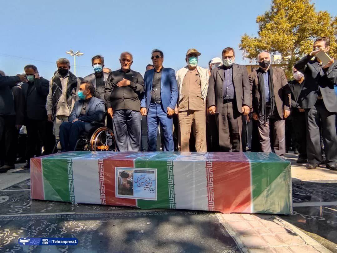 منطقه۵ تشییع پیکر مطهر جانباز شهید حسین صفری در محله باغ فیض